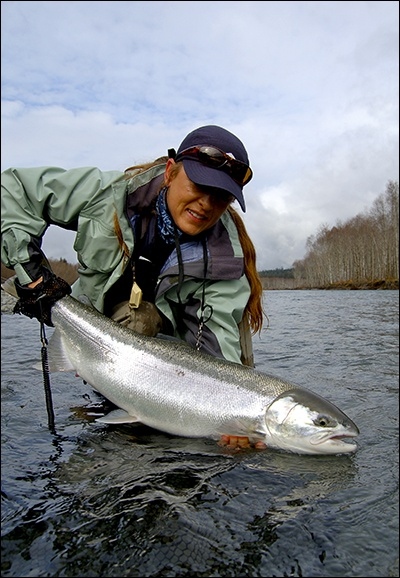 Annie kubicka fly fishing girl drowning worms for Fly girl fishing charters