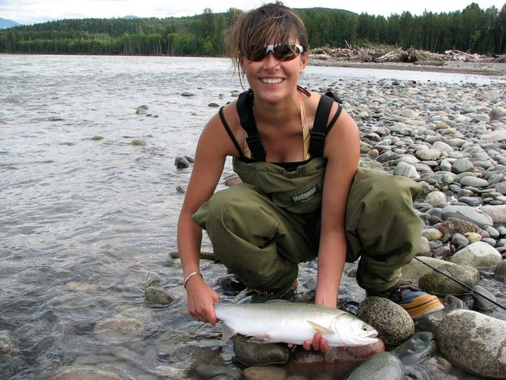 Angler unknown steelhead drowning worms for Women who fish