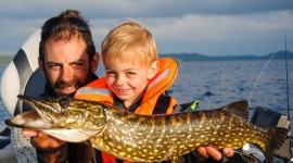 Young boy Perch-Fishing-in-Sweden