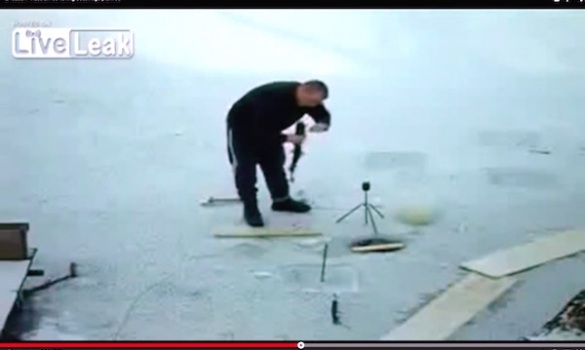 Did you see this coming? Ice fishing #fail