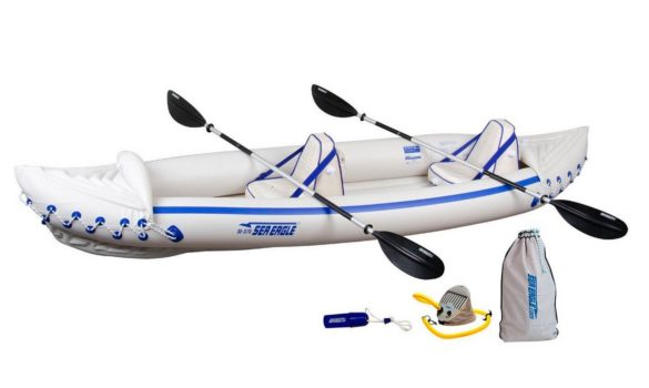 Sea Eagle 330 and 370 Inflatable Fishing Kayak Review