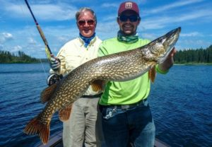 Pike fishing in Canada on fly